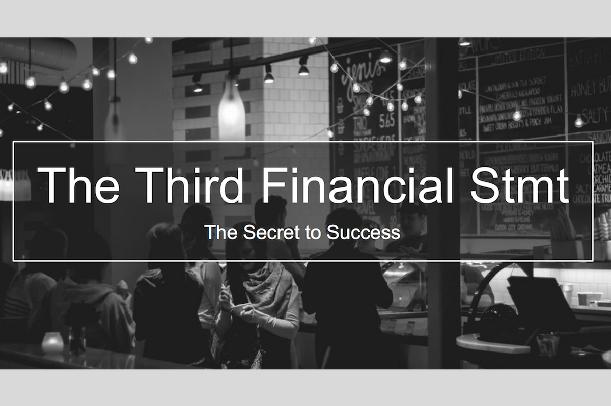 "Webinar: ""How The Third Financial Statement Is A Restaurant's Secret To Success"""