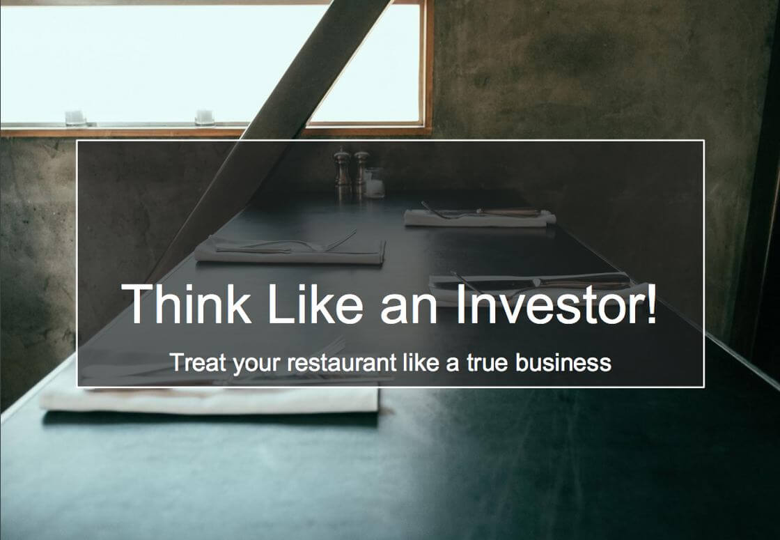 Think Like An Investor