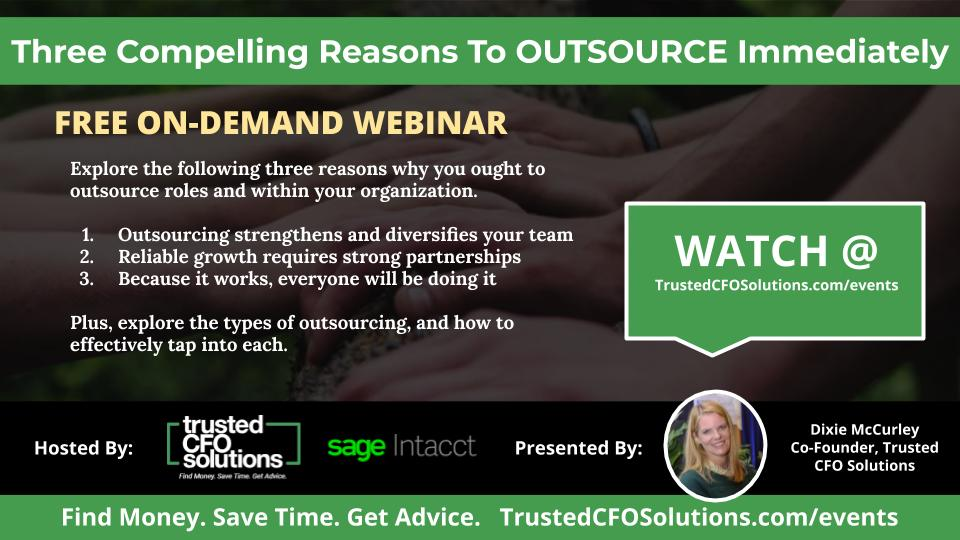 outsourcing webinar promo graphic with dixie