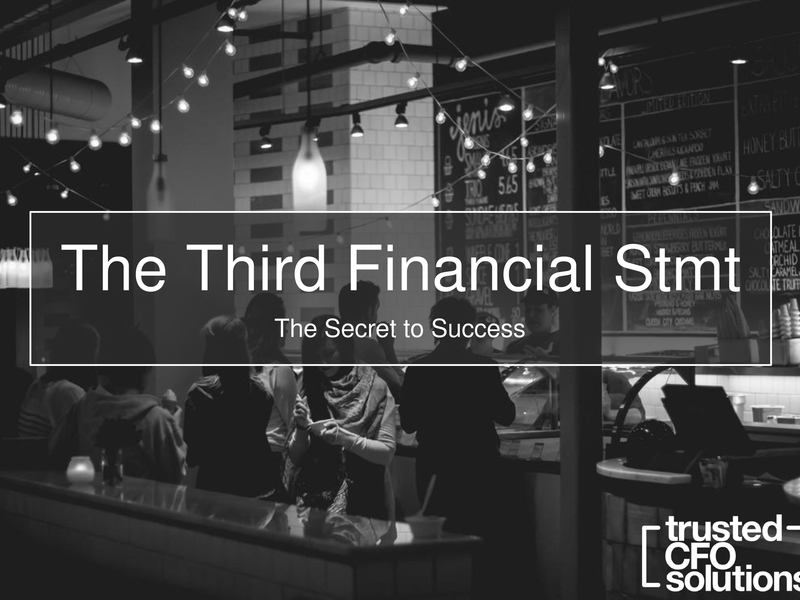 How The Third Financial Statement Is A Restaurant's Secret To Success Presentation