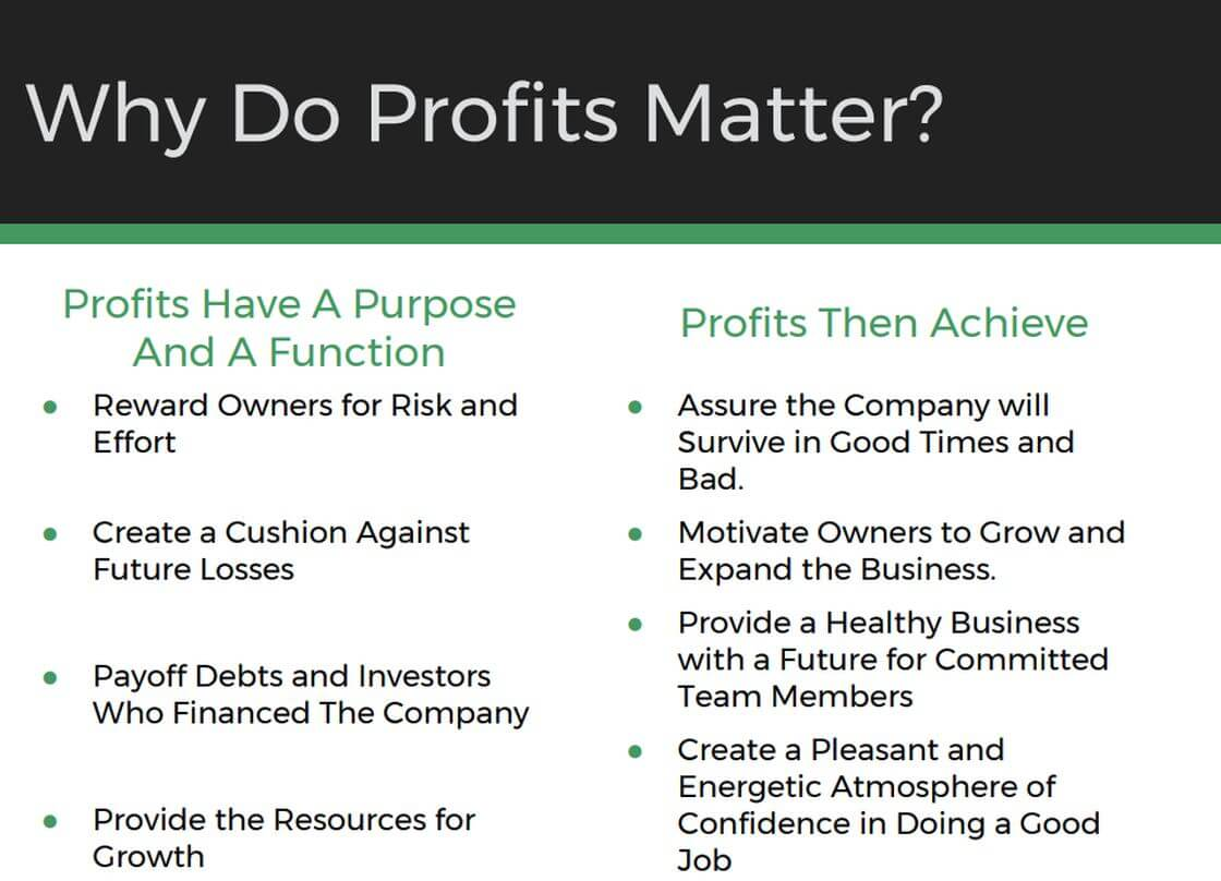 Profits Have A Purpose
