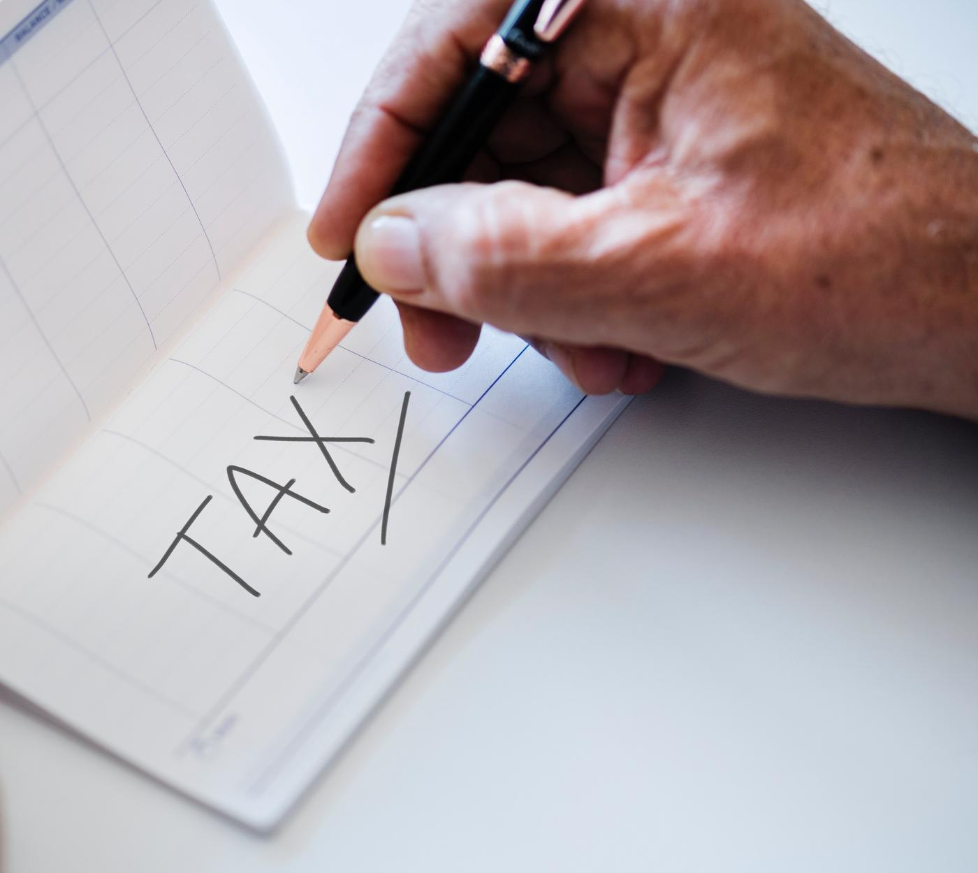 hand writing tax