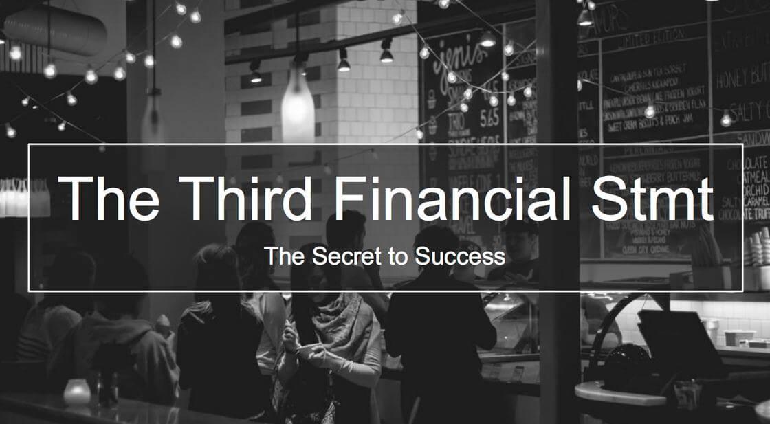 Third Financial Statement Cover Slide